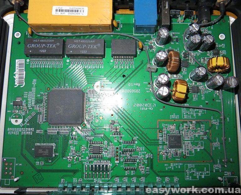 Внутреннее устройство роутера TP-LINK TL-WR1042ND