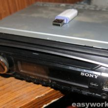 Ремонт магнитолы SONY CDX-GT500U (не держится панель)