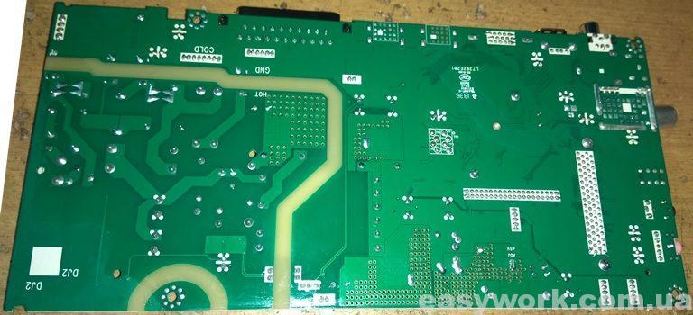 Плата MS36633-ZC01-01 с обратной стороны