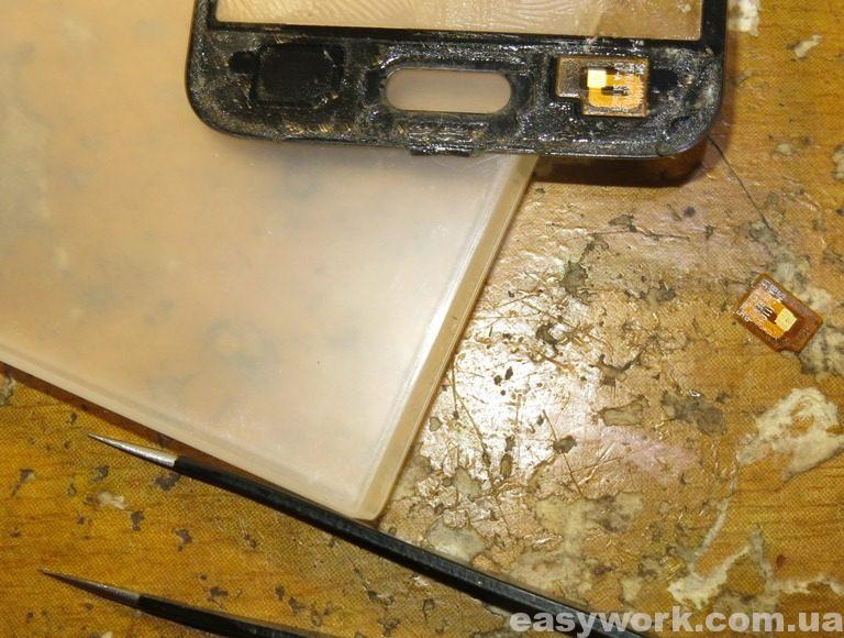 Переклеиваем подкладки с старого стекла