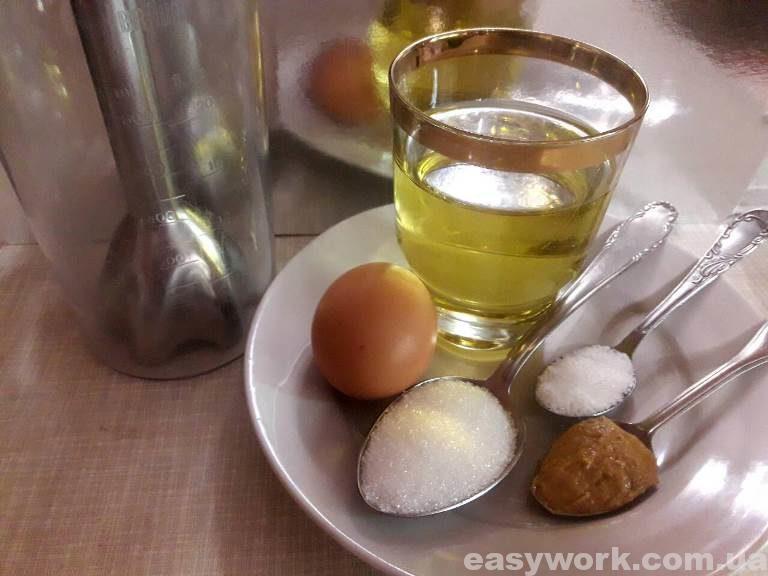 Ингредиенты для приготовления домашнего майонеза