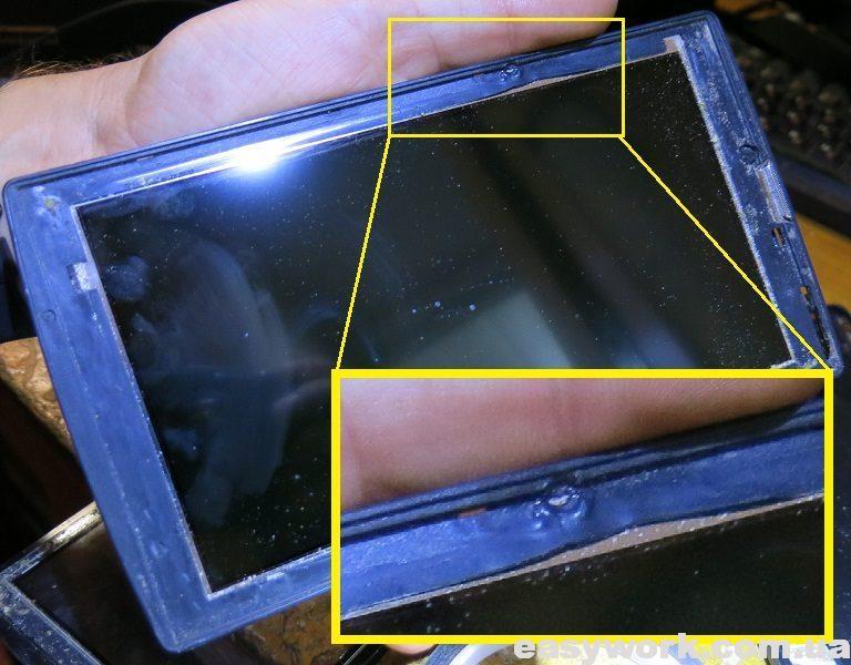 Наплыв пластмассы на корпусе планшета