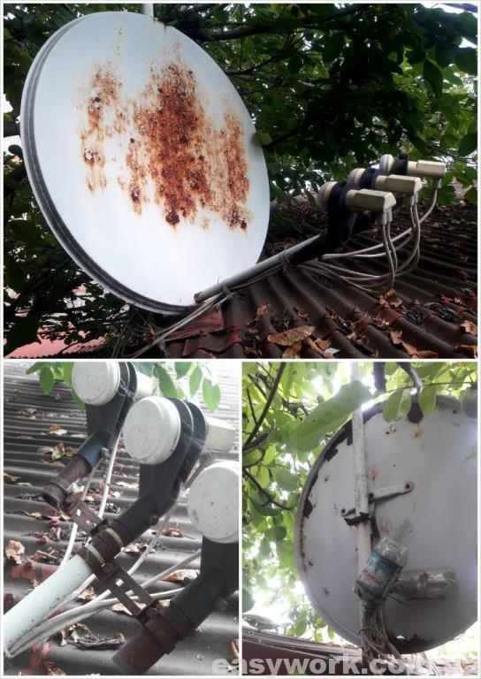 Спутниковая антенна до покраски