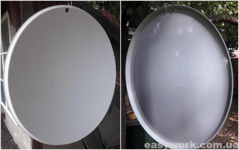 Спутниковая тарелка после покраски (2 слой)