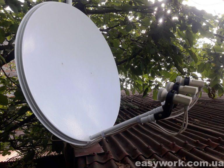 Спутниковая антенна после покраски