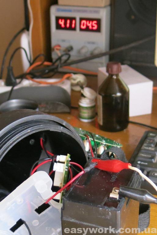 Зарядка аккумулятора внешним БП