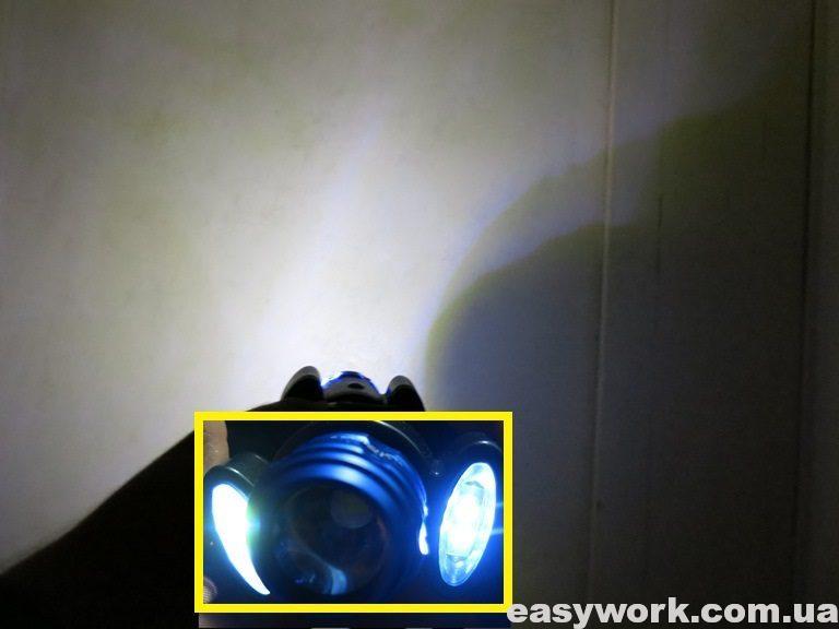 Отличия в освещении поверхности боковыми COB