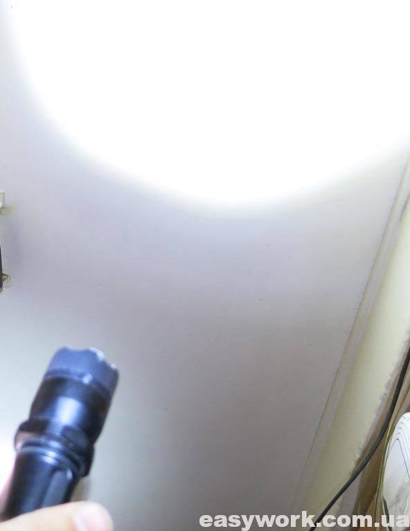 Отремонтированный фонарь POLICE 158000KV BL-1152 с светодиодом 3 Вт