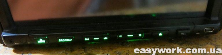 Подсветка кнопок лицевой панели
