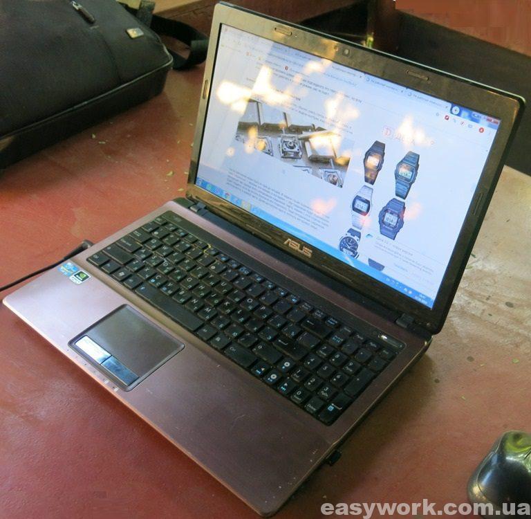 Ноутбук ASUS с частично неработающей клавиатурой