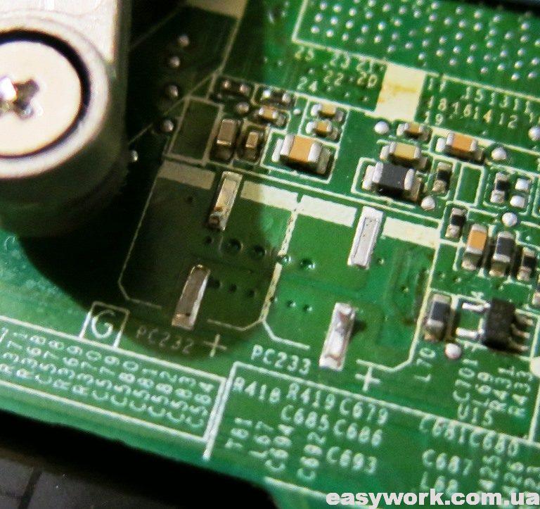 Демонтированные конденсаторы