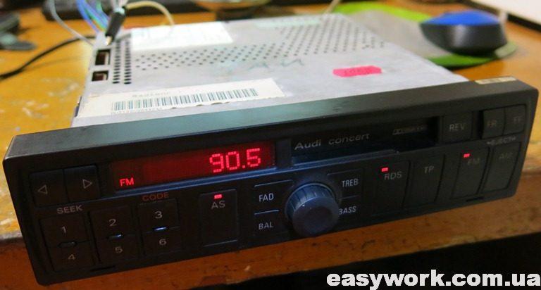 Отремонтированная магнитола Audi Concert 4B0 035 152