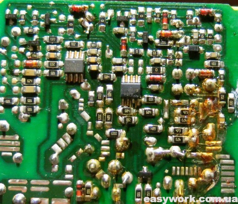 Фото резисторов на первичной стороне БП