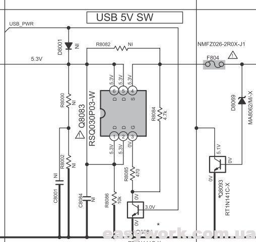 Питание USB разъема