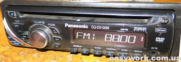 Отремонтированная магнитола Panasonic CQ-DX100W