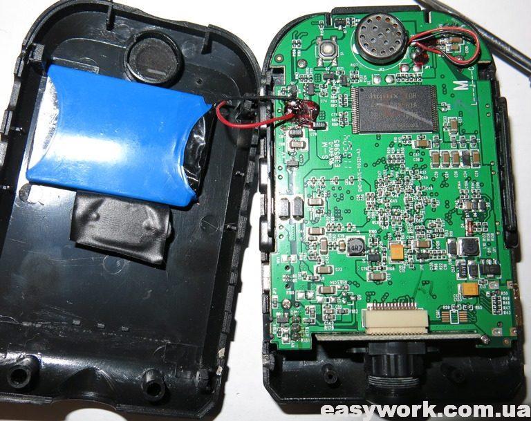 Внутреннее устройство регистратора Gazer H511