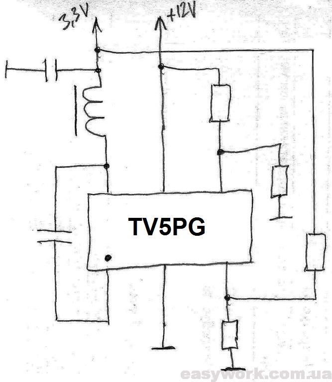 Схема включения TV5PG
