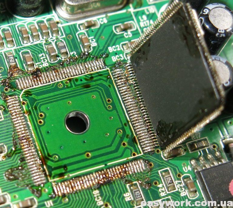 Запайка нового процессора