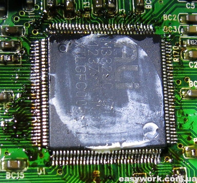 Лужение выводов процессора