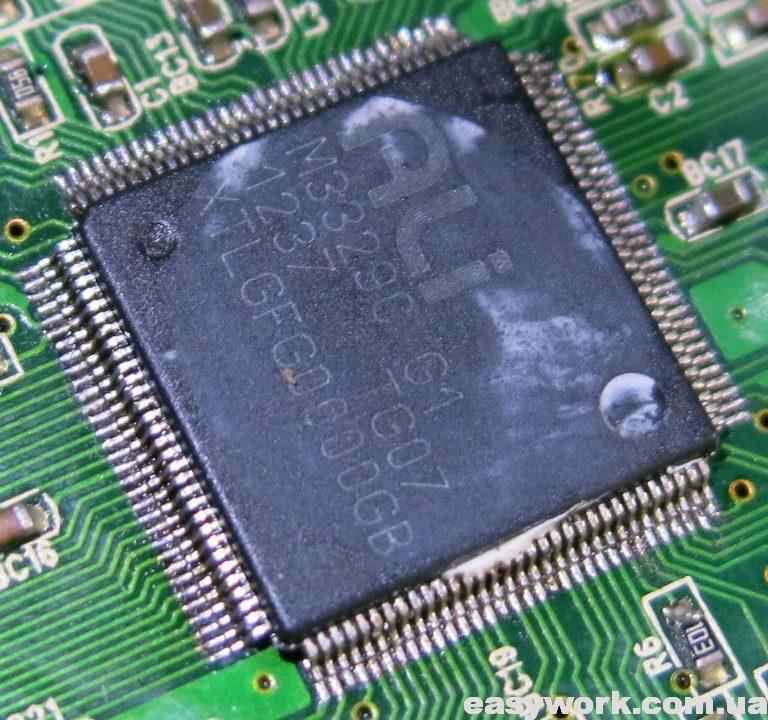 Проверка на отсутствие КЗ между выводами процессора