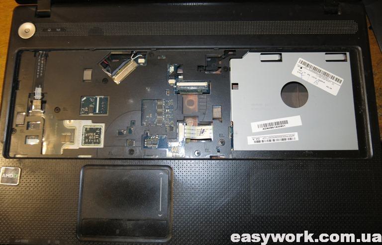 Снятая клавиатура с ноутбука