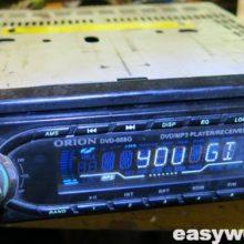 Профилактика привода магнитолы ORION DVD-088G