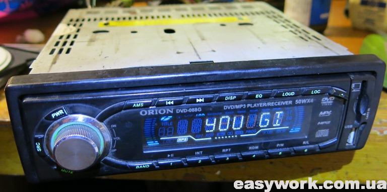 Магнитола ORION DVD-088G после профилактики