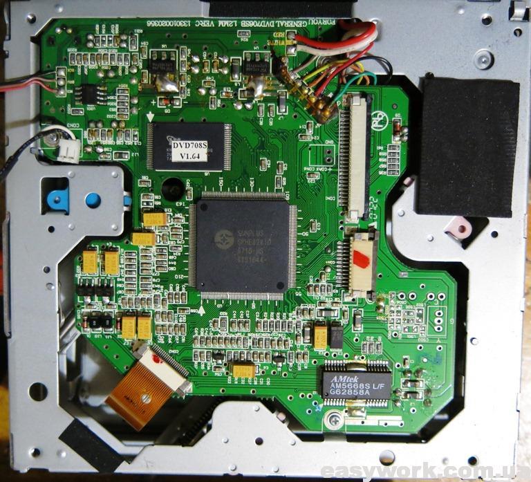 Плата привода магнитолы ORION DVD-088G