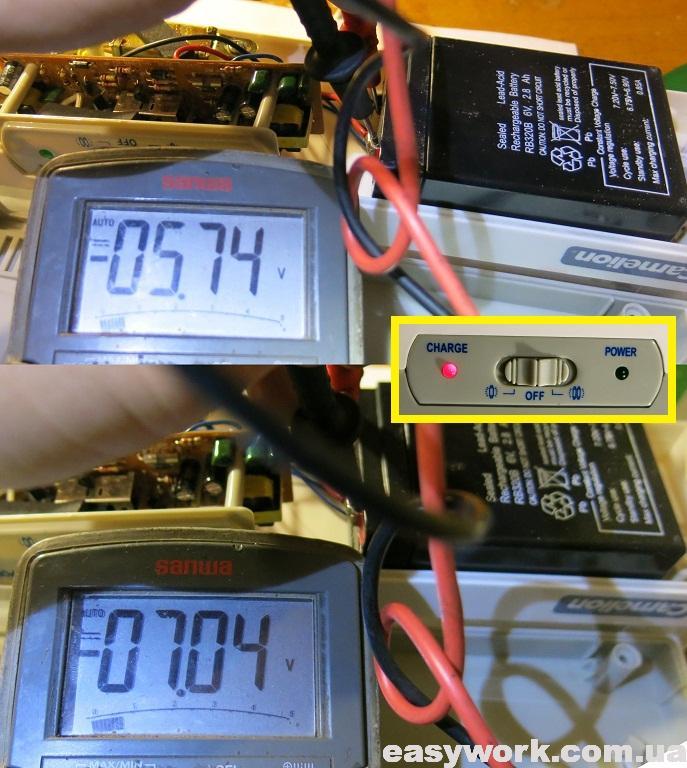 Напряжение аккумулятора при зарядке