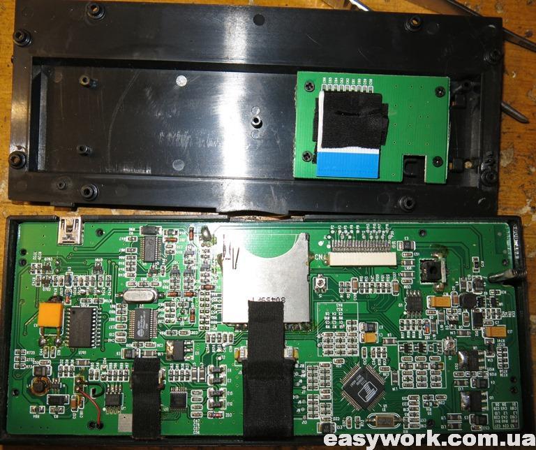 Разобранная лицевая панель магнитолы Pioneer AVH-P4550