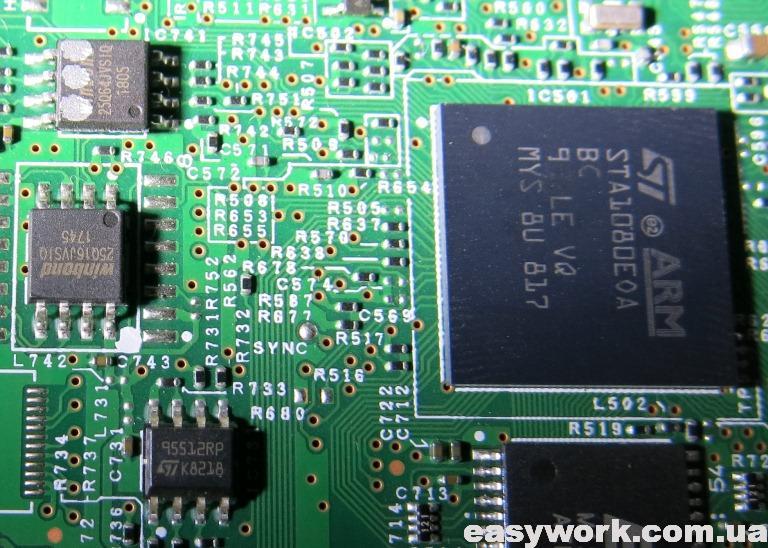 Процессор и микросхемы памяти
