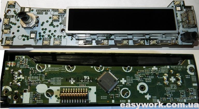 Плата панельки магнитолы Pioneer MVH-S510BT