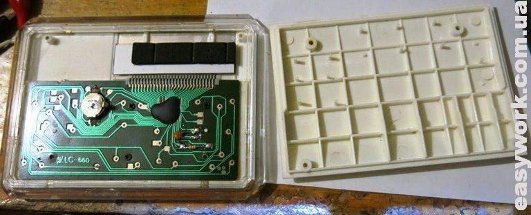 Внутреннее устройство калькулятора MARY KAY