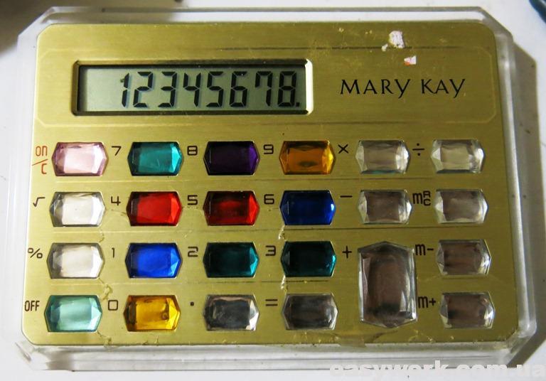Калькулятор MARY KAY после замены батарейки