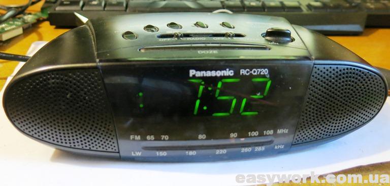 Установленное время Panasonic RC-Q720
