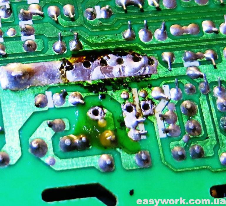 Демонтаж микросхемы