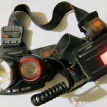 Ремонт фонаря Boruit RJ 3000 (не светит)