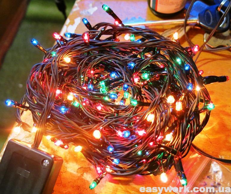 Восстановленная гирлянда на новогоднюю елку