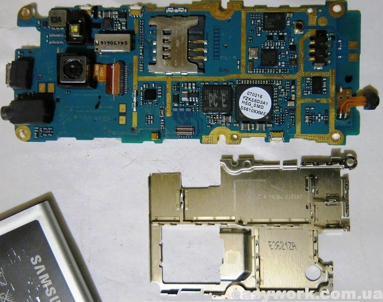 Снятие экрана с телефона Samsung GT-S5610