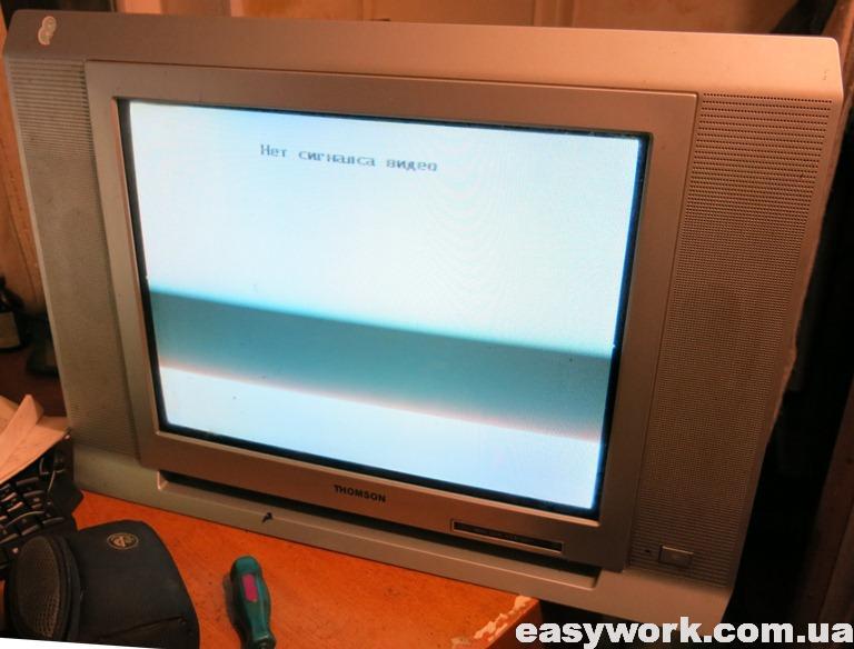 Отремонтированный телевизор THOMSON 21DCV12KH