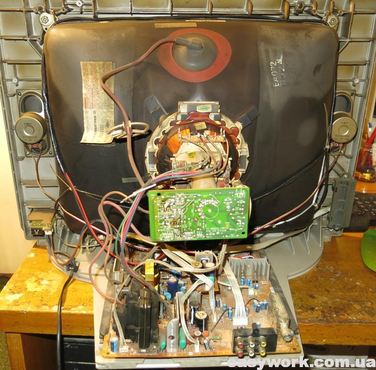 Внутреннее устройство телевизора THOMSON 21DCV12KH