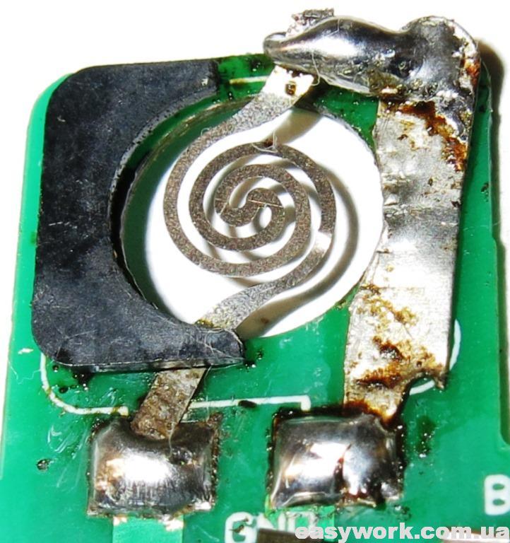 Запайка нагревательного элемента