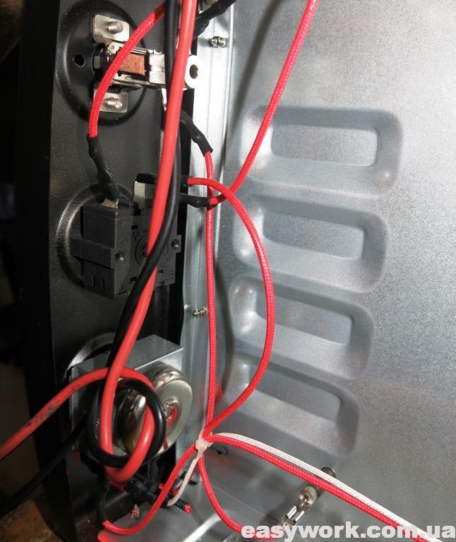 Электроника внутри духовки