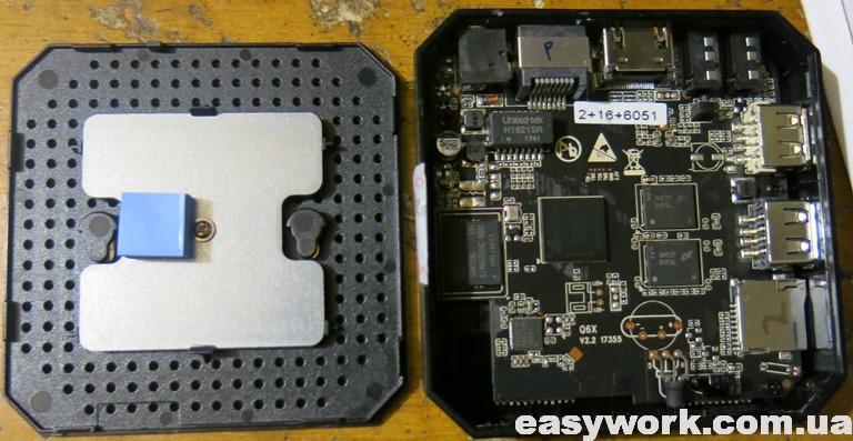 Внутреннее устройство приставки X96 mini 2/16 Gb