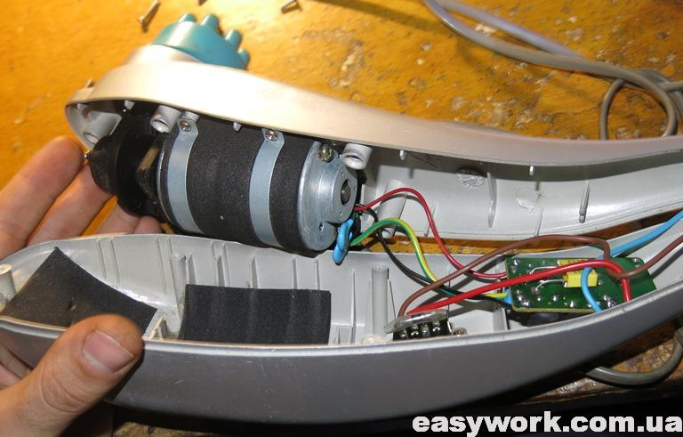 Внутреннее устройство массажера Tapper RELAX