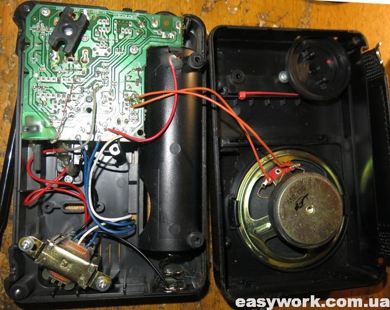 Внутреннее устройство радиоприемника GOLON RX-607AC