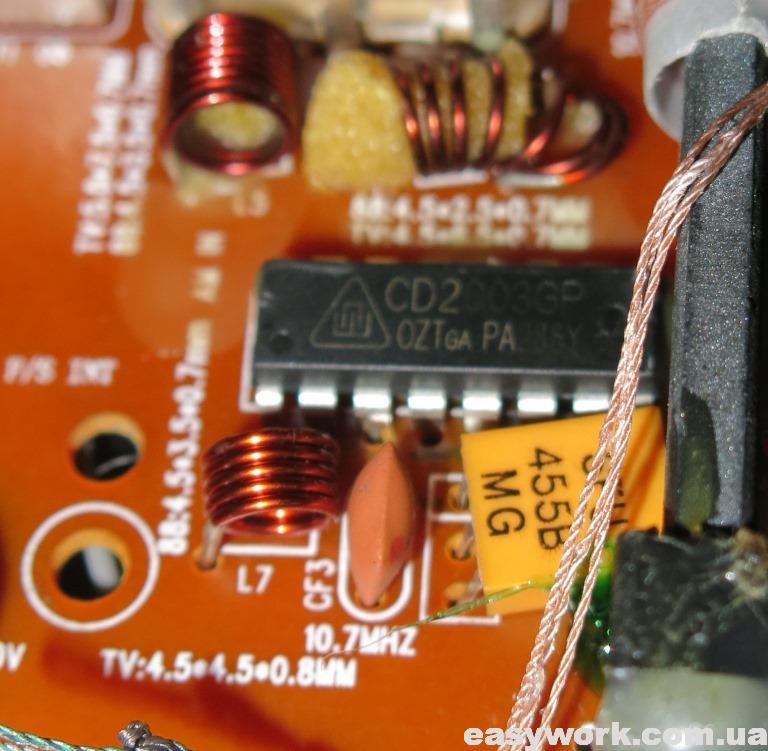 Микросхема приемника FM/AM диапазона CD2003GP