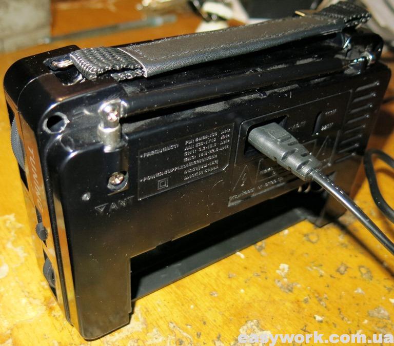 Вид на радиоприемник сзади