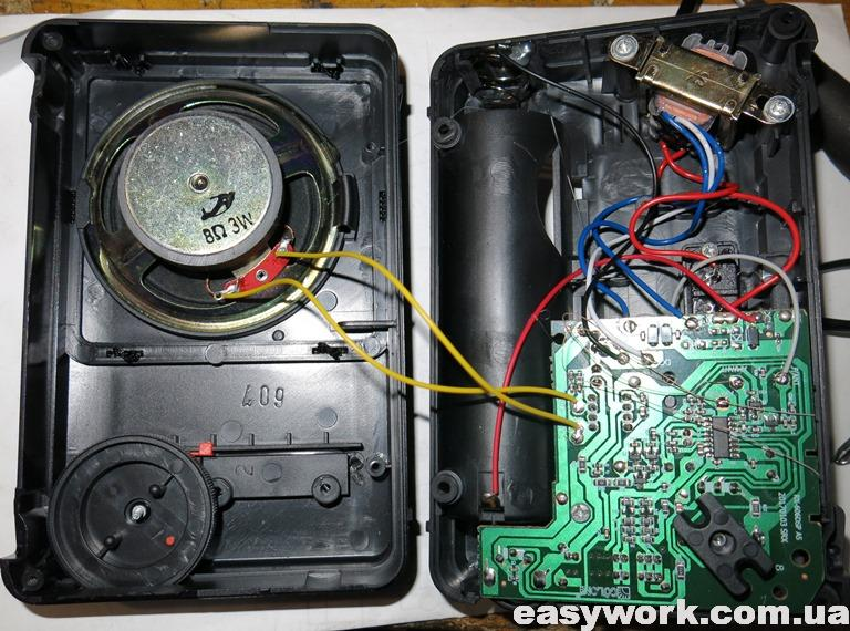Внутреннее устройство радиоприемника GOLON RX-A07AC