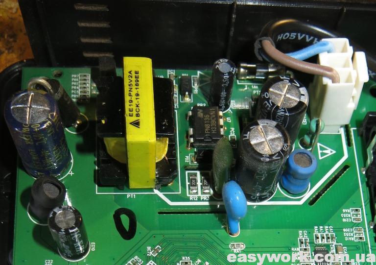 Блок питания с вздувшимся конденсатором